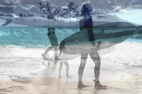2 x Surf's up + ocean  waves