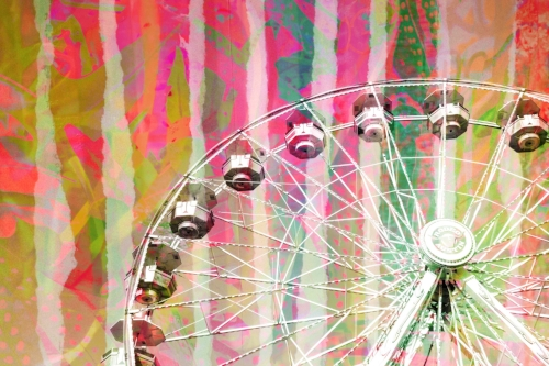 Collage stripes + Ferris wheel