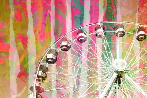 Collage stripes + Ferris wheel
