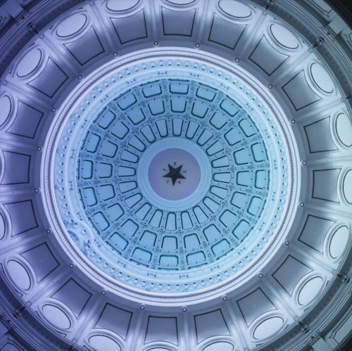 TX Capitol rotunda + Blues