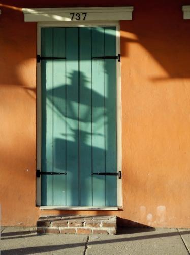 New Orleans door + Lantern shadow