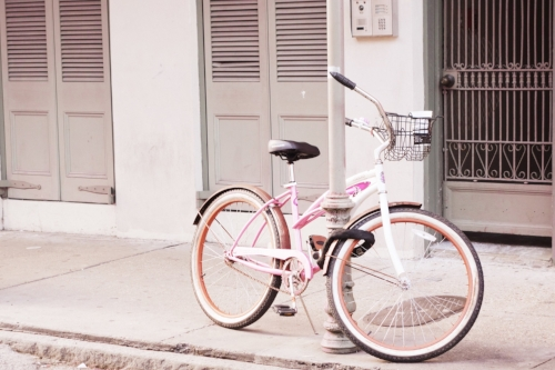 New Orleans pink bike