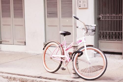 New Orleans pink bike