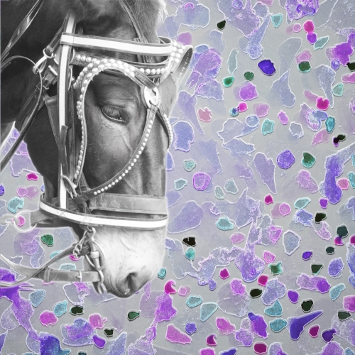 New Orleans carriage mule + Watercolor drops