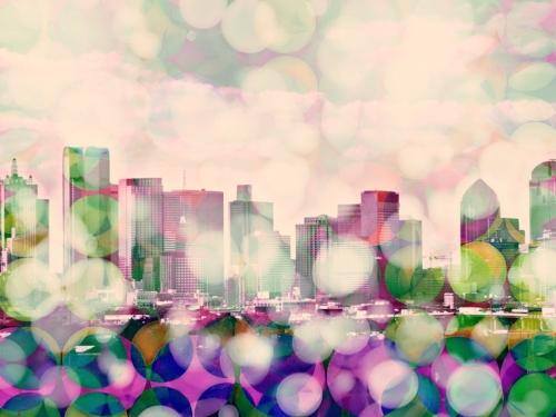 Dallas skyline + 2xDots
