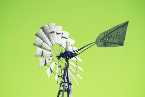 Texas windmill + Lime sky