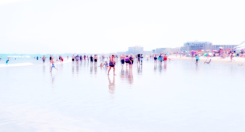 Beach people + Reflections