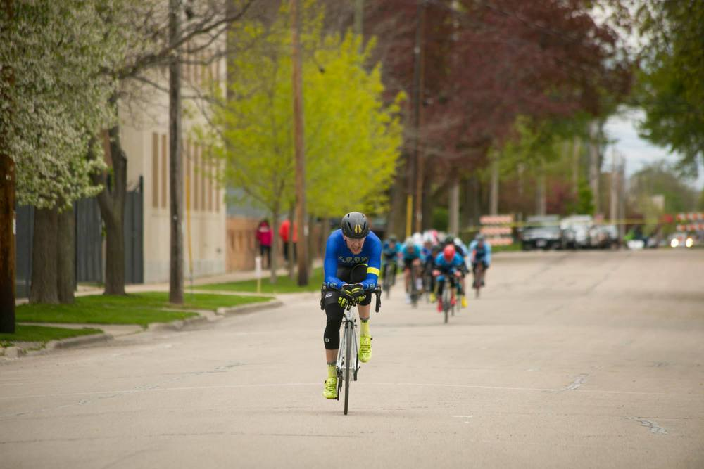 A rider stretches his gap to The Early SIzeable Phase at the NEWO Diablo Crit. Photo courtesy of Jason Thiel.
