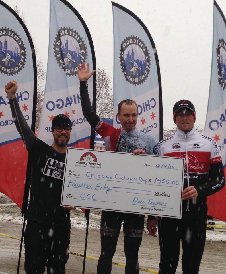 Look closely at that check. It's not made out to Dan, instead he's giving back to Chicago Cross Cup. This is one our favorite parts of Dan's story.