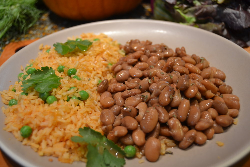 Mexican Rice and Homemade Pinto Beans