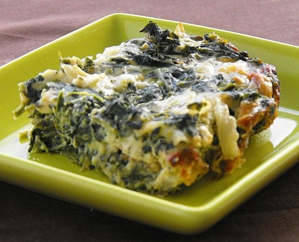 Brown rice and kale casserole with comte