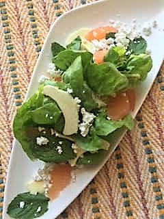 Butter Lettuce, Artichoke and Grapefruit Salad