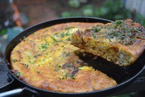 Caramelized Onion and Gruyere Frittata