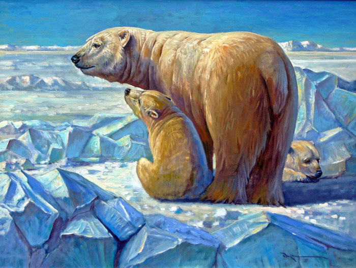"John C. Doyle,  Pearls of the North , 1999, oil on canvas, 36"" x 48"""