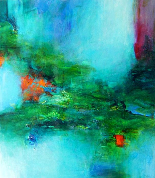 "Javier Barbosa, Rising Spirit, oil on canvas, 32"" x 28"