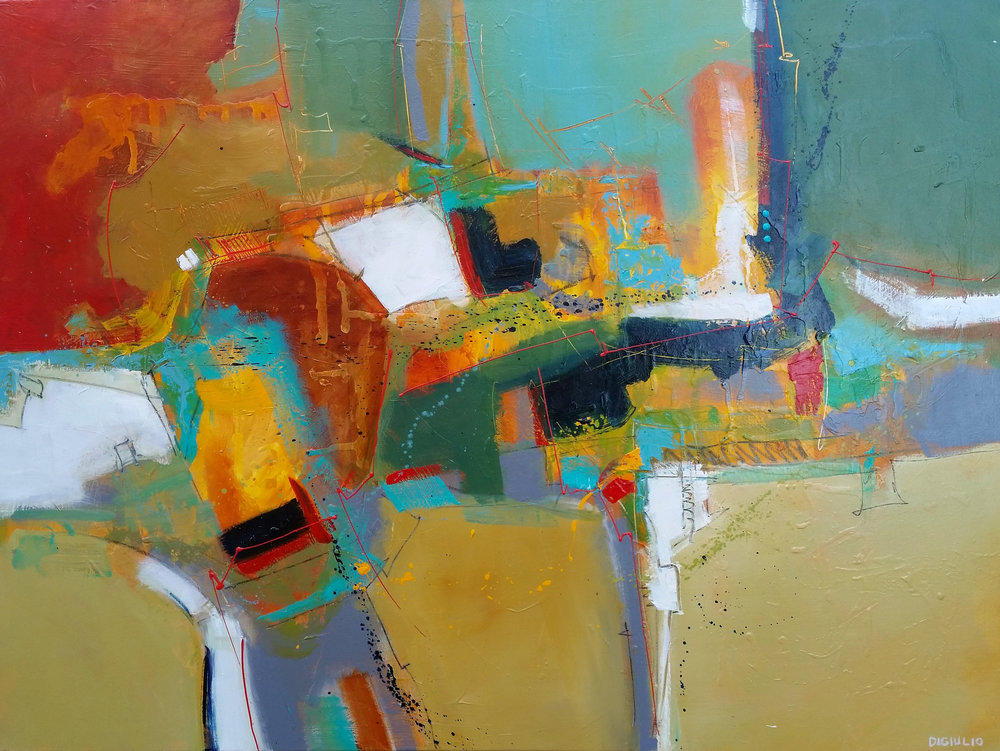 "Joseph DiGiulio, Wrightsville 48361, acrylic, 36"" x 48"""