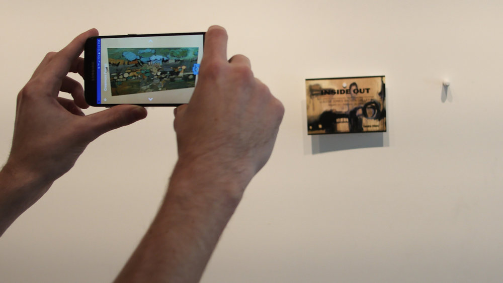 Augmented Reality - point at a target and see art!