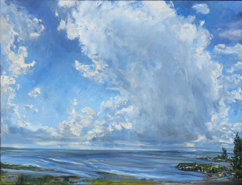 "Janette K. Hopper, Big Sky, oil on canvas, 36"" x 48"""