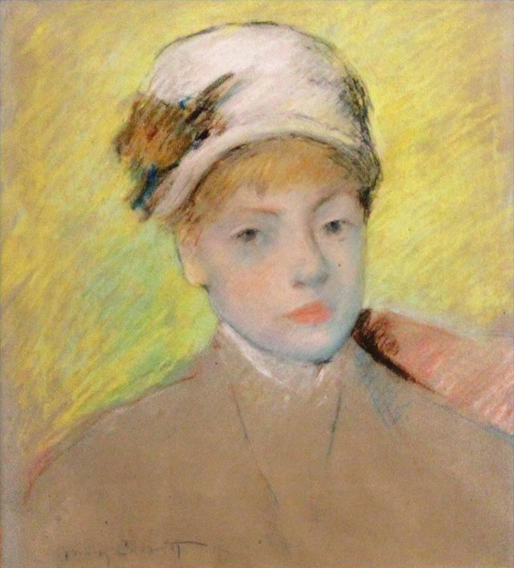 Mary Cassatt (1844 - 1926),  Head of a Young Girl , Private Collection