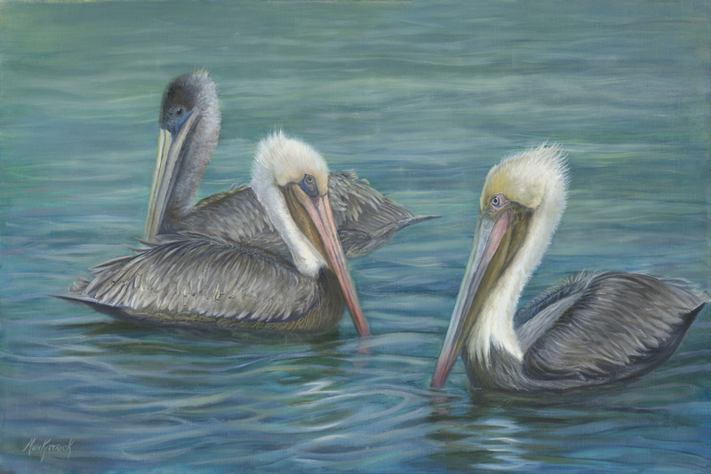 "Dianne Munkittrick,  Three in the Keys , 2016, oil on linen, 20"" x 30"""