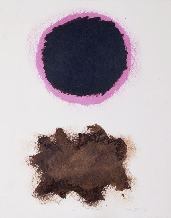 "Adolph Gottlieb (American, 1903-1974)  #30,  1970, acrylic on paper, 23 3/4""x18 3/4"" Collection of Jeanne and Carroll Berry"