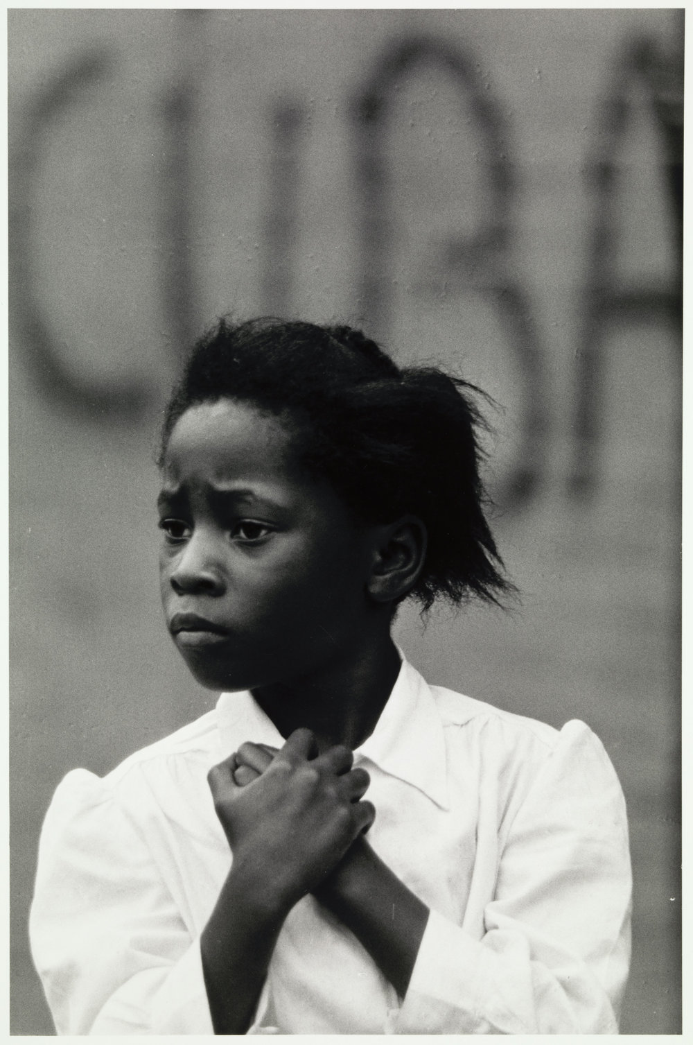 Girl and Cuba,  1968, Louis Draper (American, 1935-2002), gelatin silver print, 9 3/8 x 6 1/8 in. Virginia Museum of Fine Arts; Arthur and Margaret Glasgow Endowment.  Image © Louis H. Draper Preservation Trust