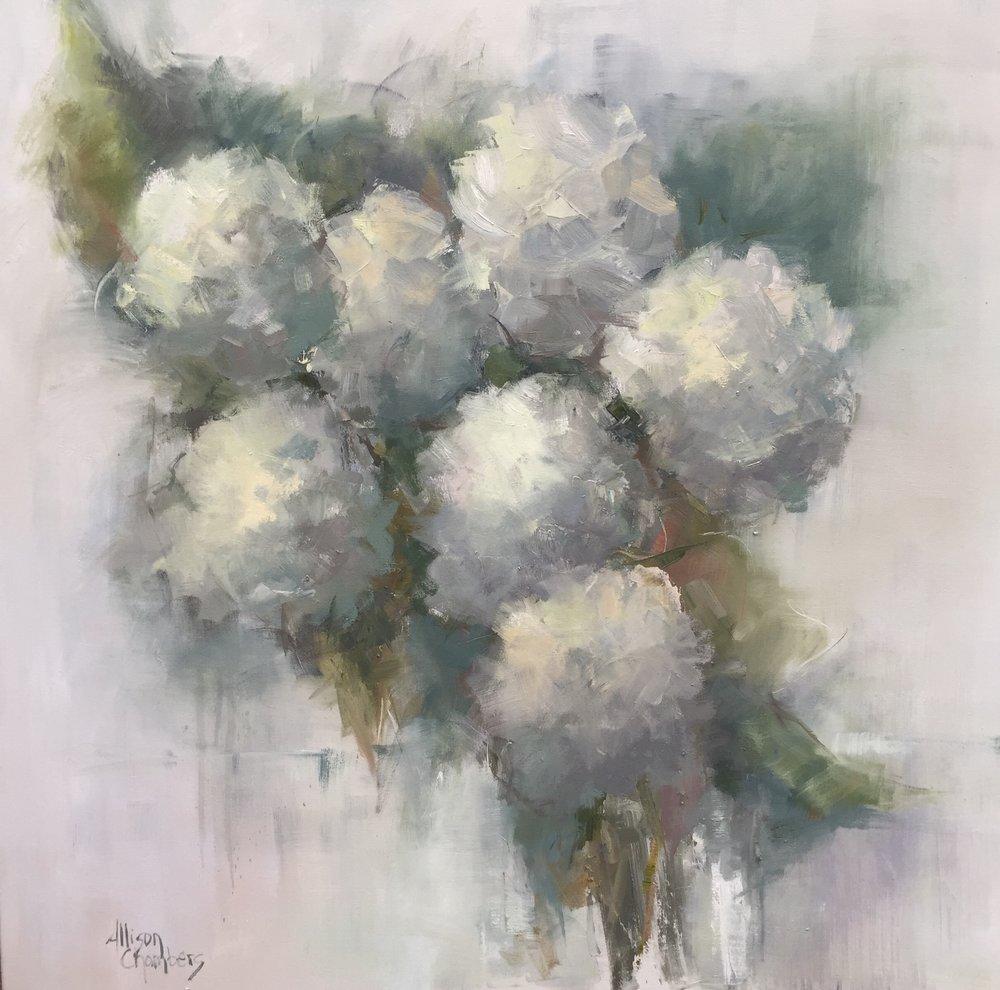 "Allison Chambers, Sweet Dreams, 2017, oil on canvas, 40""x40"""