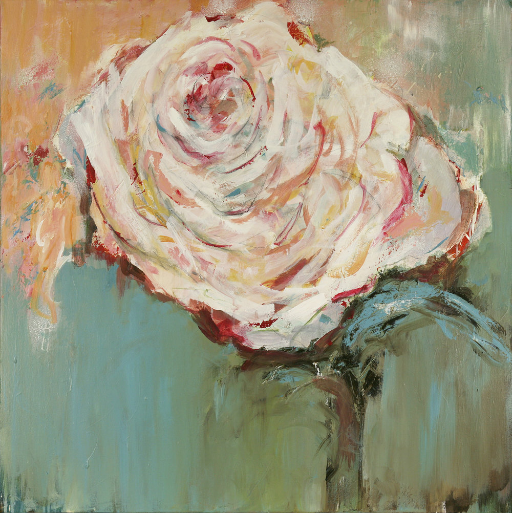 "Peggy Vineyard,  Pretty Pickens , 2016, acrylic, 36""x36"""