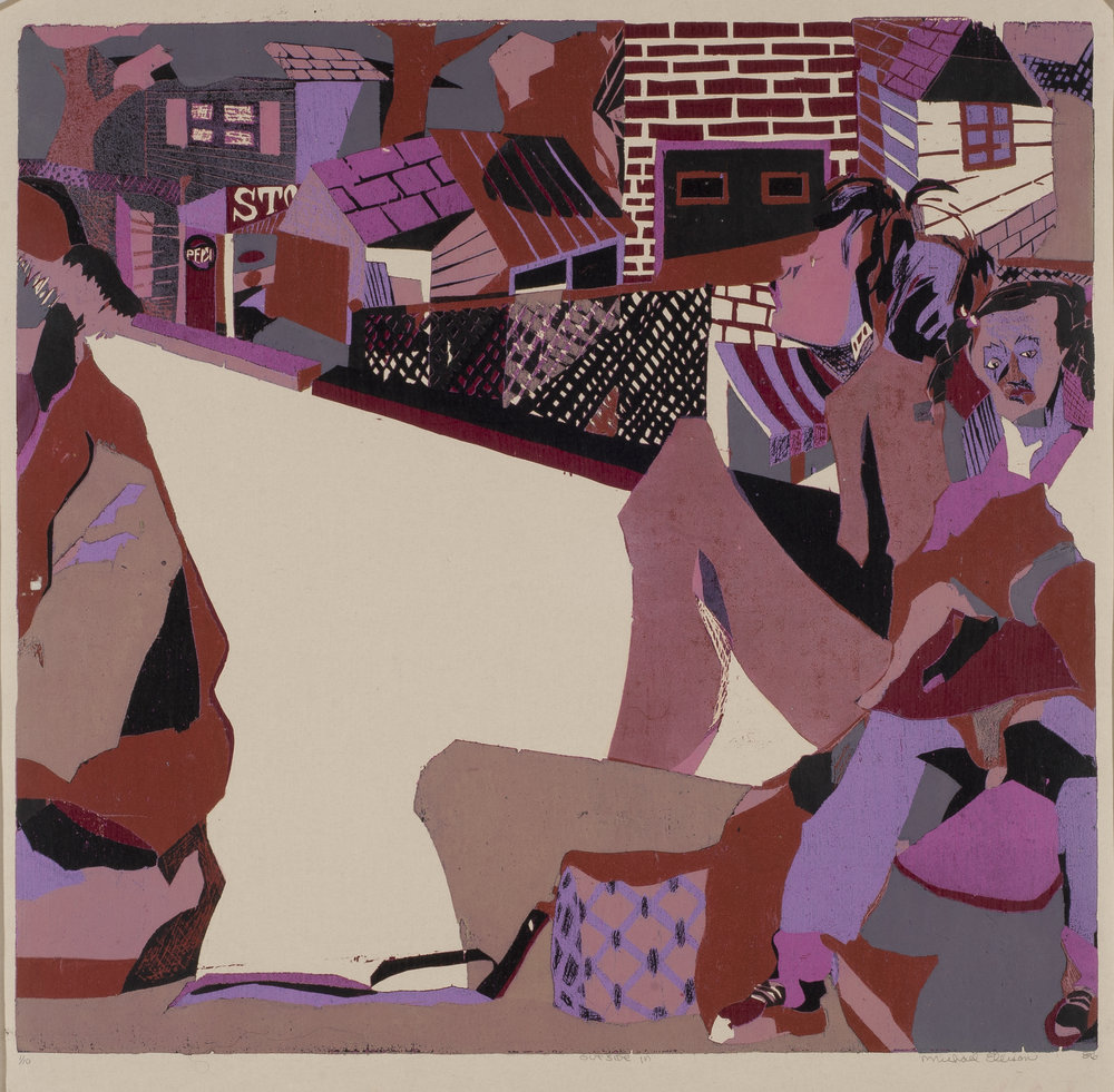 "Michael Ellison (American, d. 2001) Outside In, 1986, Print, 22""x23"""