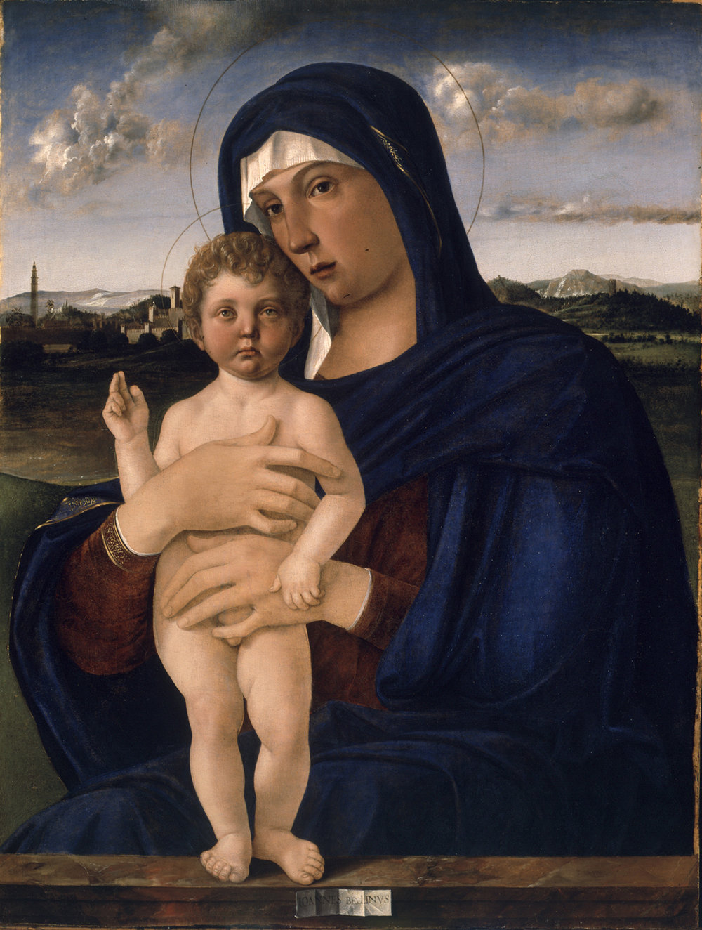 Bellini,  Virgin with Standing Blessing Child