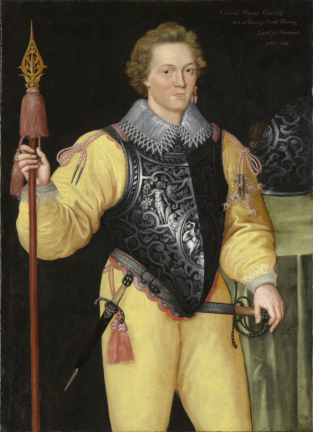 British School, Portrait of a Gentleman Wearing a Breastplate, circa 1585–90, oil on canvas, 46 1/2 x 33 5/8 in., Gift of Mr. and Mrs. James MacLamroc