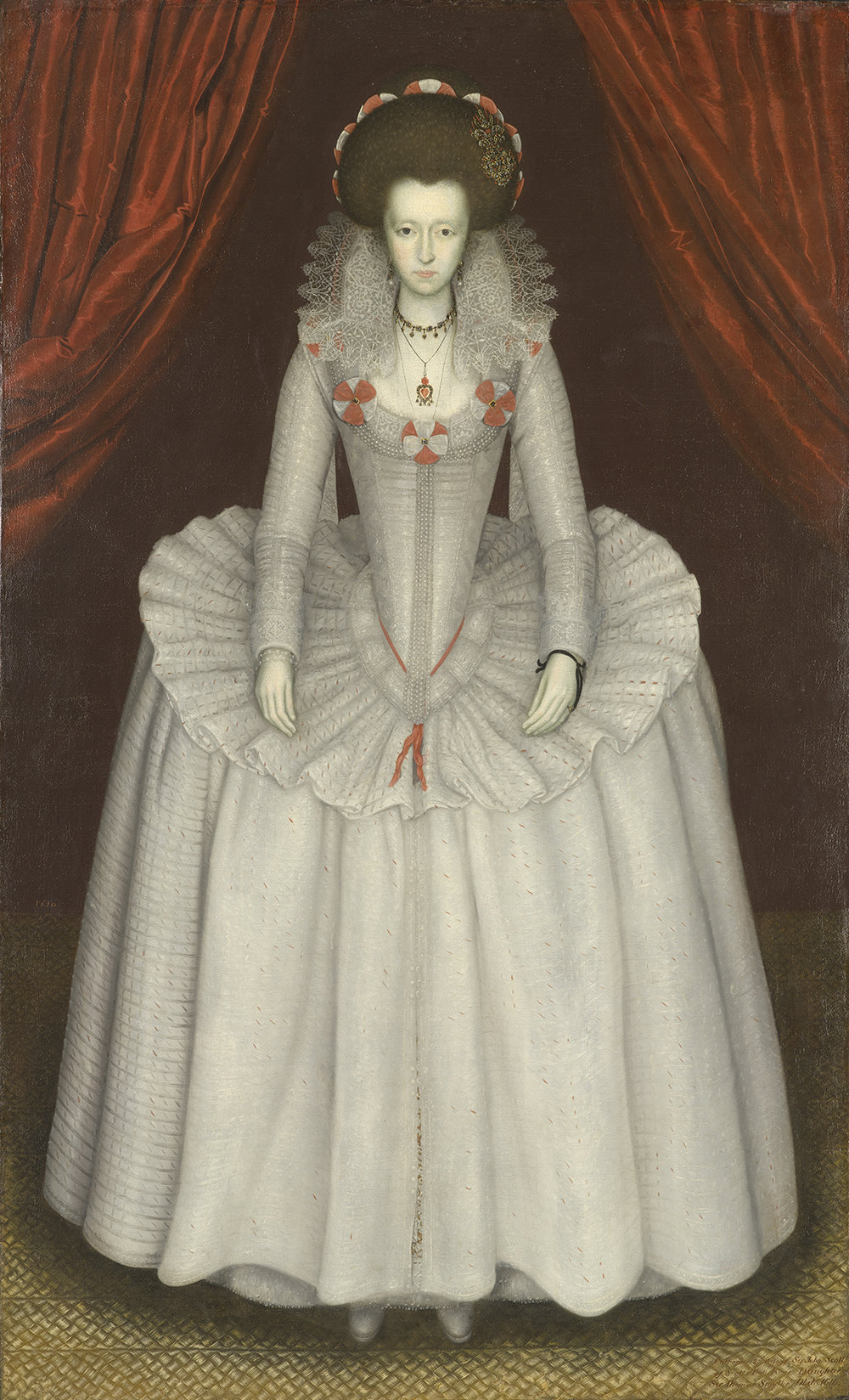 British School, Portrait of a Lady, circa 1610, oil on canvas, 81 x 50 in., Gift of Mr. and Mrs. James MacLamroc