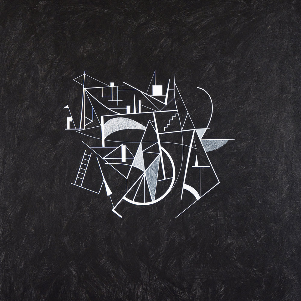 Untitled Drawing, 2012, acrylic on canvas, 47x47 inches