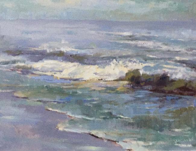 """Joanne Geisel, Creating Waves, 11"""" x 14"""""""