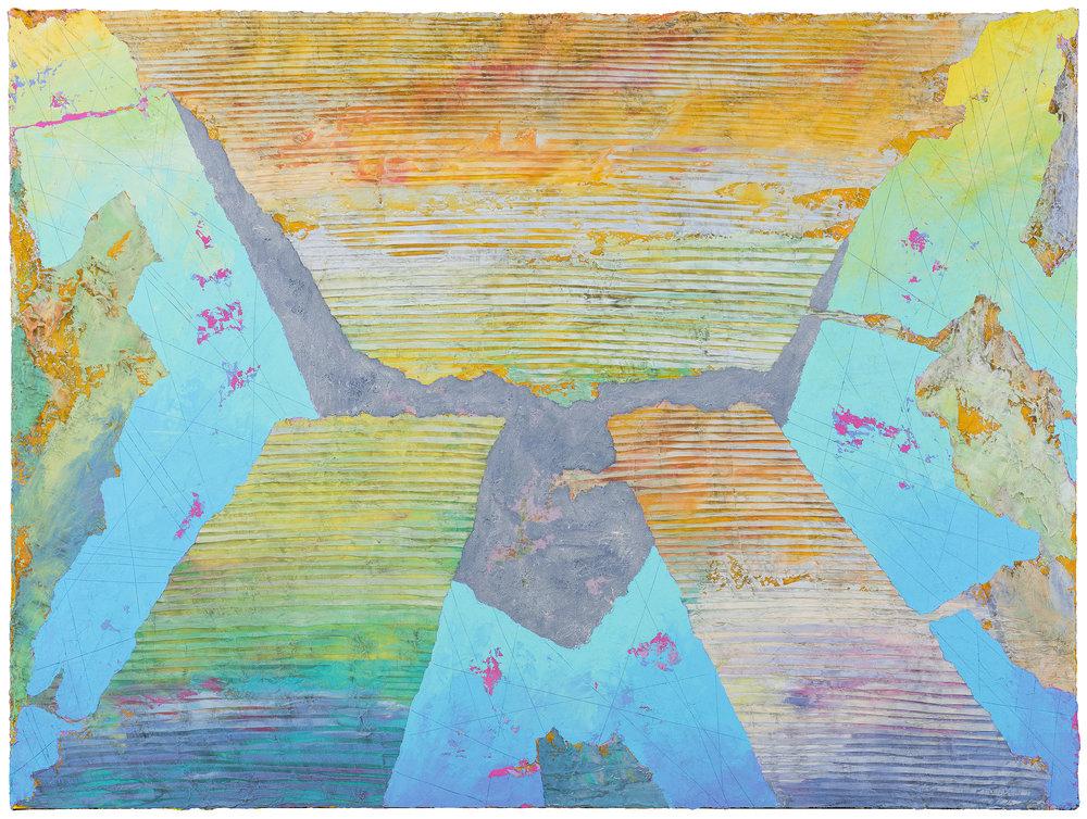 "Herb Jackson,  Tasting the Sea , 2017, acrylic on canvas, 36"" x 48"" (Photo: David Ramsey)"