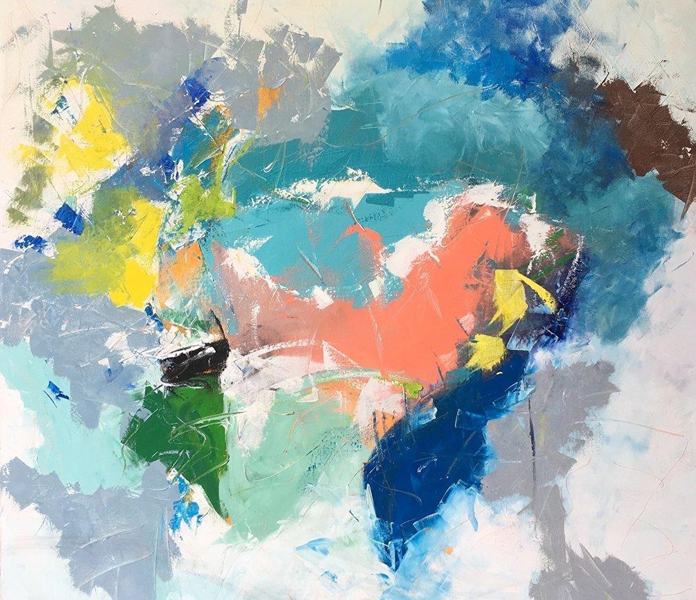 """Nancy McClure, Choppy Waters , 2017, oil, 42"""" x 48"""""""