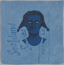 "Alison Saar (American, b. 1956), ""Indigo Blue (Sea Island Pure),"" 2016, ed. 2/3, intaglio, 12 x 11 3/4 inches, Collection of Jordan D. Schnitzer, 2016.90. Photo: Strode Photographic LLC"