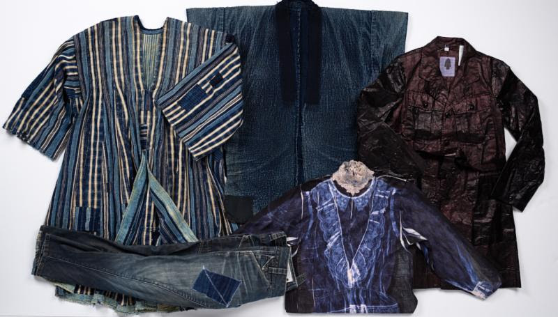Japanese,  Noragi (workcoat) , mid-1800s. Elizabeth T. and Dorothy N. Casey Fund. dosa,  Travel Coat,  2014. Edgar J. Lownes Fund. B. Earley,  Lace Blouse (Top 100 Recycled Shirts Project) , 2008. Helen M. Danforth Acquisition Fund. G-Star RAW,  Jeans , ca. 2005. Proposed: Gift of Anne Marika Verploegh Chassé. Ghanaian,  Fugu (man's robe) , mid-1900s. Museum purchase: Museum Works of Art Fund, by exchange.