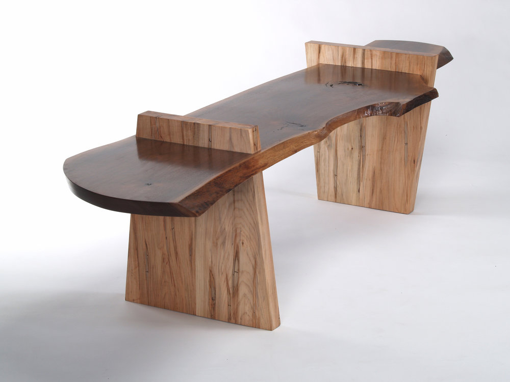 KEITH ALLEN - BenchI design and make wood furniture, guided foremost by character of the material and geometric intuition. I like to combine/contrast natural wood features and stark geometric elements in the same piece. I employ mostly classical joinery, such as mortise-and-tenon and hand-cut dovetails, and hand finish using varnishes, oils, wax, dyes and milk paint.