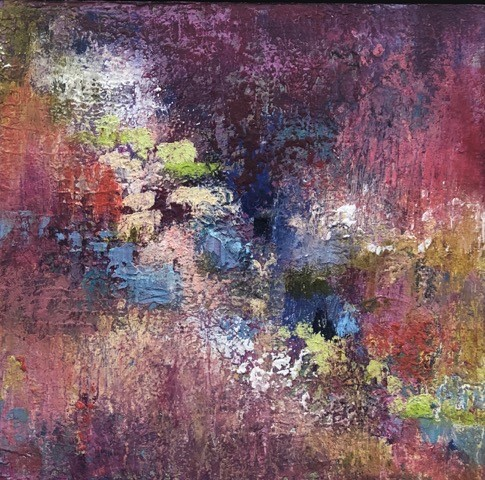 PEG BACHENHEIMER - Stepping StonesPeg Bachenheimer is an intuitive painter whose process involves discovery, experimentation and the building up of many layers of texture and color. She sees painting as an act of faith and a journey. Some of her paintings are about experiences or places remembered and re-imagined, others are abstract. Peg works in encaustic, oil and cold wax medium and acrylic mixed media.