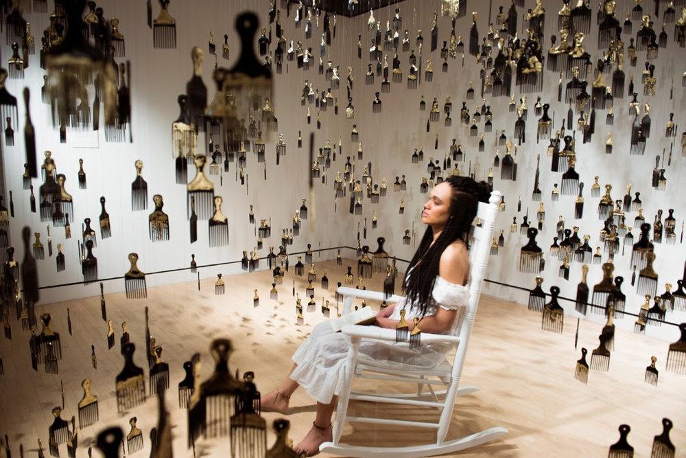 "Eleanor Kipping, ""Strange Fruit,"" installation and performance"