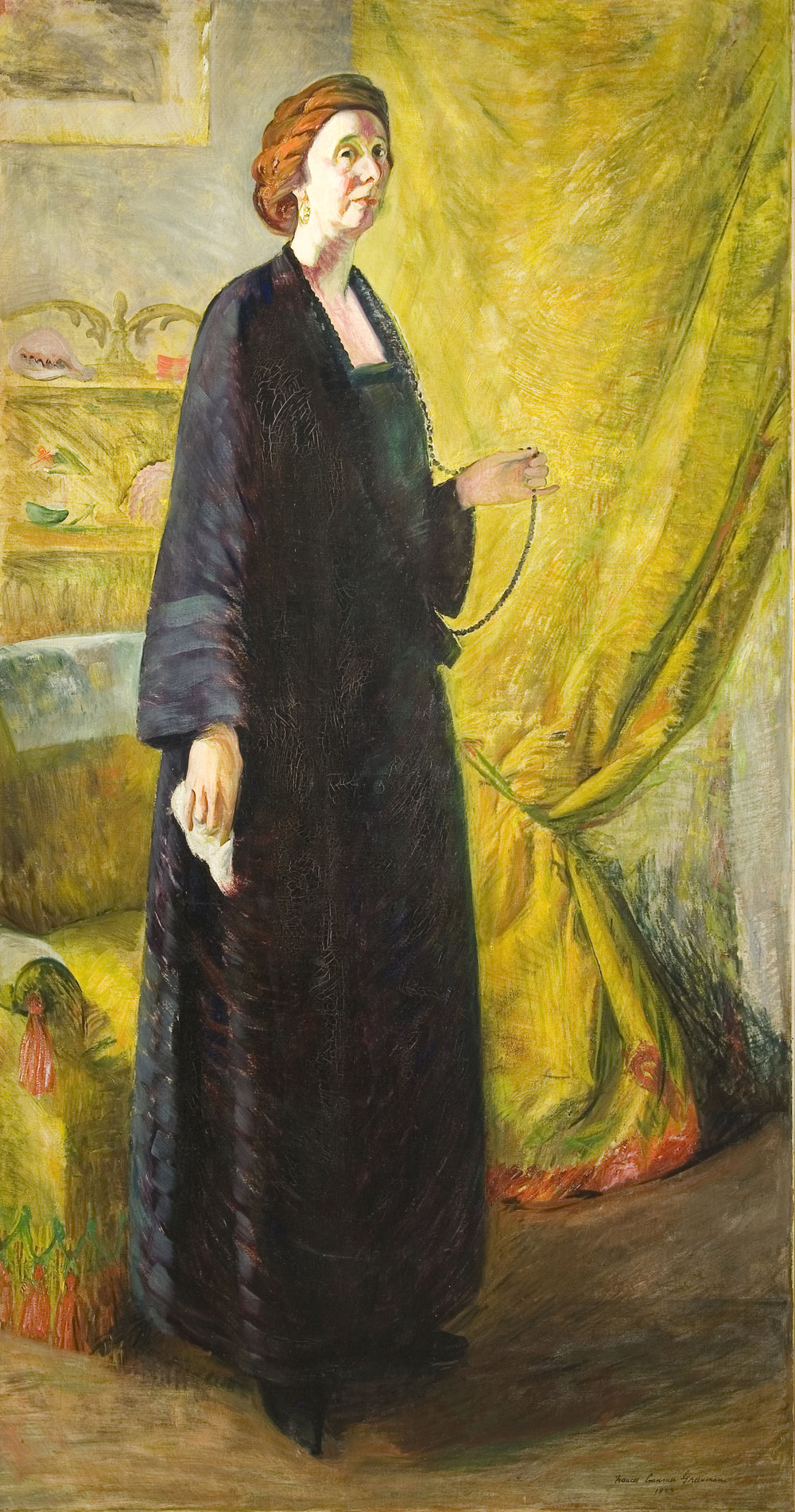 Frances Cranmer Greenman, Portrait of Clara Mairs, 1923. oil on canvas. Gift of Mr. and Mrs. Patrick Butler. Collection of Minnesota Museum of American Art.