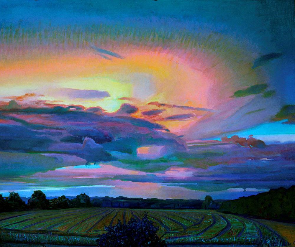 Charles Basham, NIMBUS  2018, Pastel on Paper, 50 x 60 inches, JMG19252