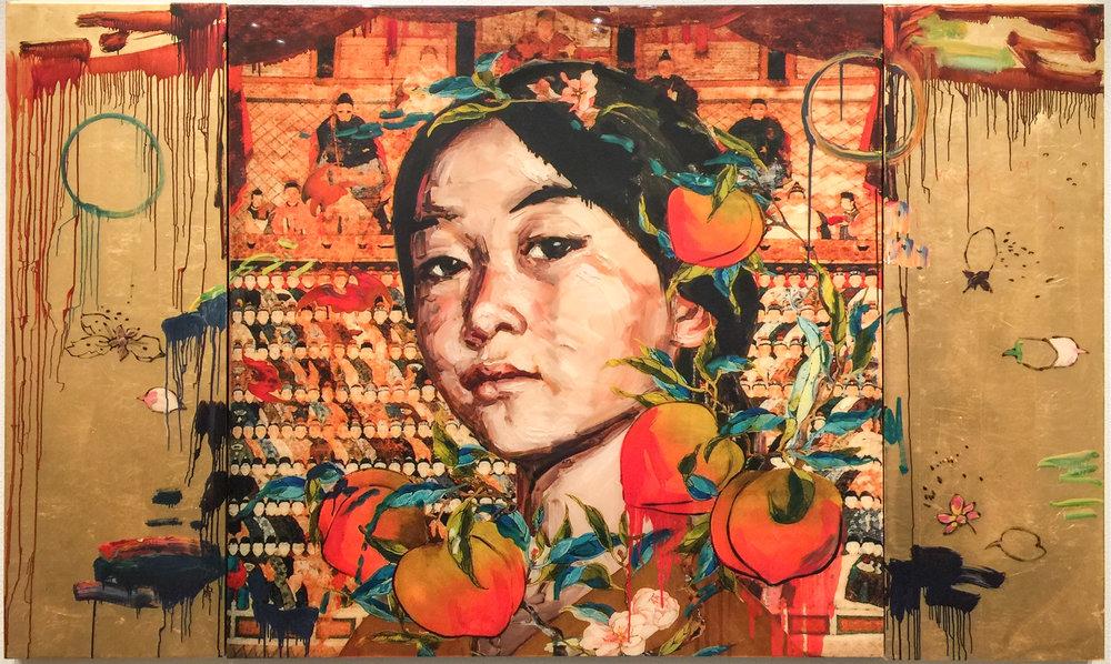 Hung LIU,  All the Ancestors , 2011, Mixed media print, Trillium Graphics, Brisbane, CA, U.S.A.