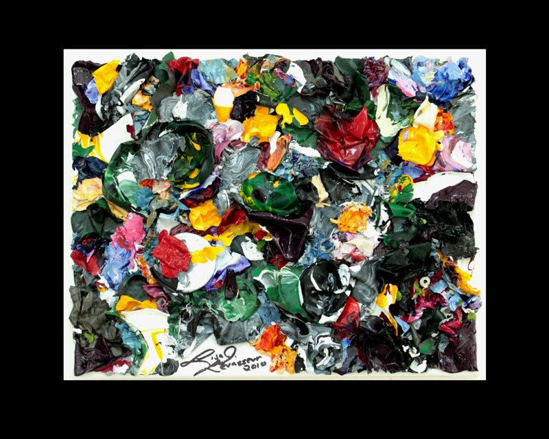 NY Bash , PaletteArt™ - 100% acrylic recycled paint on canvas