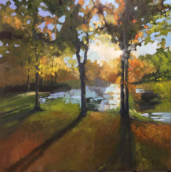 "Fall's Kaleidoscope , 2018, oil, 36"" x 36"""