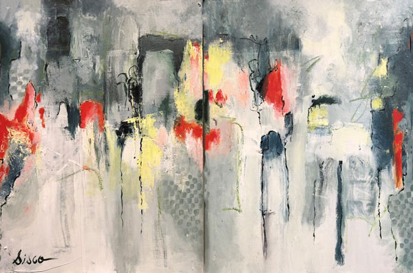 "Nightfall , 2017, oil, 24 x 36"""