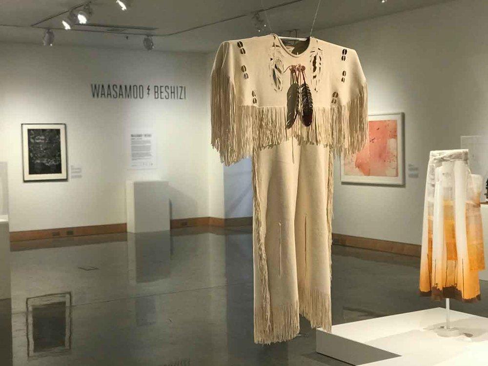Ann-Ericka White Bird,  Untitled , 2019, Buckskin, Courtesy of Joe Williams, Plains Art Museum
