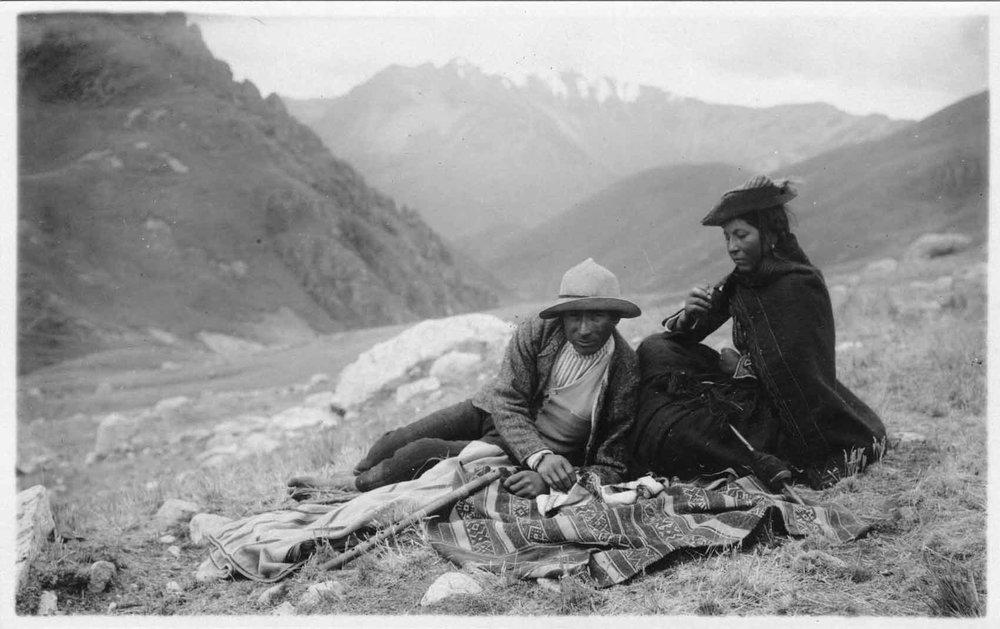Juan Manuel Figueroa Aznar,  Q'ero Indian in the Studio , Cusco, ca. 1911, Collection of Archivo Figueroa Yábar