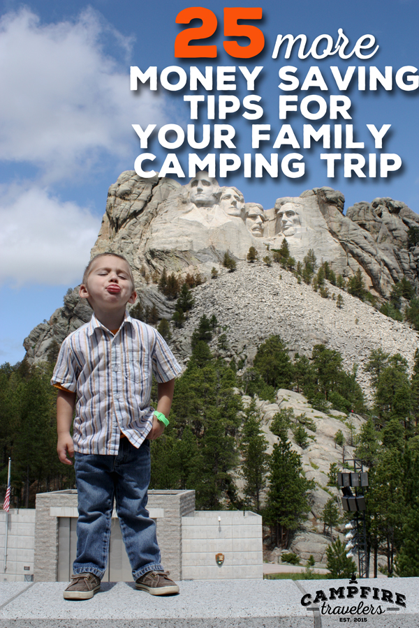 25 more money saving tips for your family camping trip